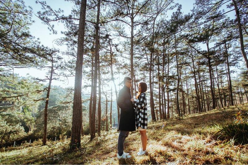 Chụp hình cưới Đà Lạt tại Hồ Cốc