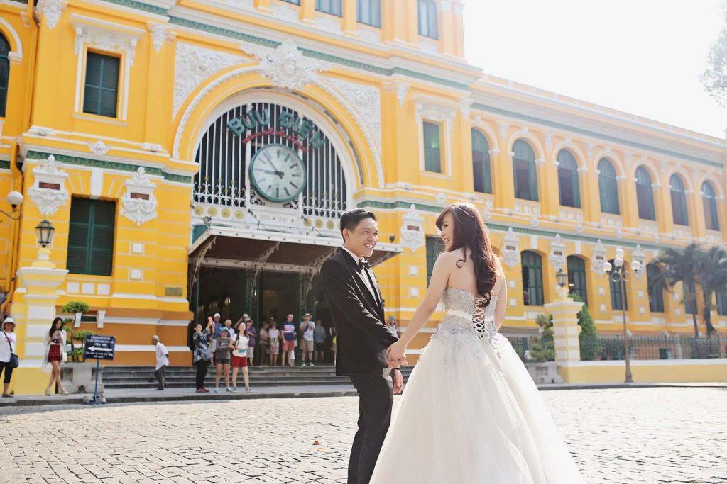 Địa điểm chụp ảnh cưới tại Bưu Điện thành phố