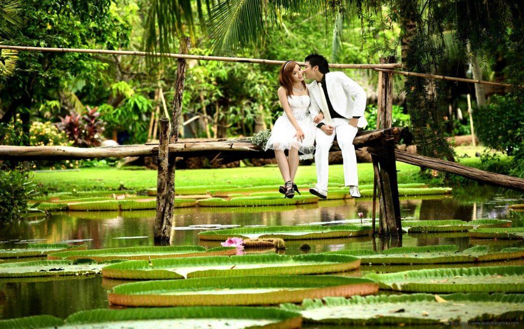 Địa điểm chụp ảnh cưới tại khu du lịch Bình Quới