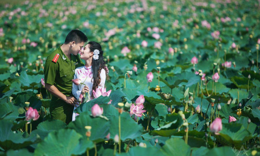album ảnh cưới đẹp của người chiến sĩ công an nhân dân