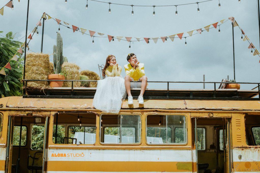Ảnh cưới đẹp ở phim trường Chill Sky