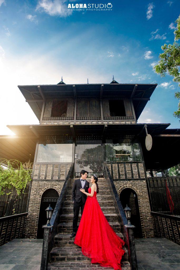 Ảnh cưới đẹp bên ngoài phim trường Long Island