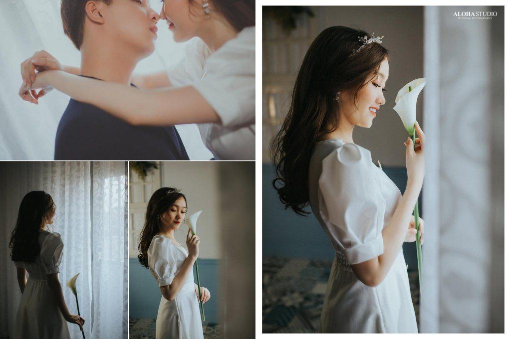 Chụp ảnh cưới phong cách Hàn Quốc tại phim trường Aloha Studio