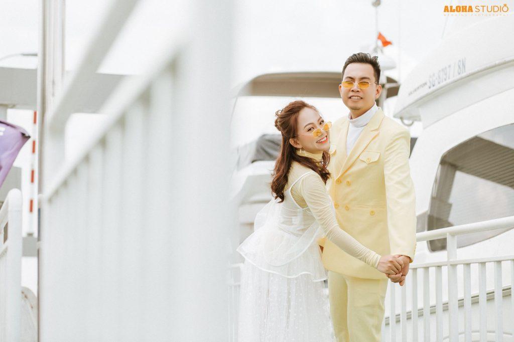 chụp ảnh cưới sang chảnh phim trường Chill Garden