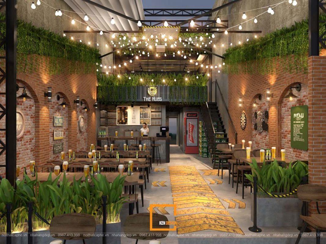 Nhà hàng phong cách sân vườn tại Nam Định