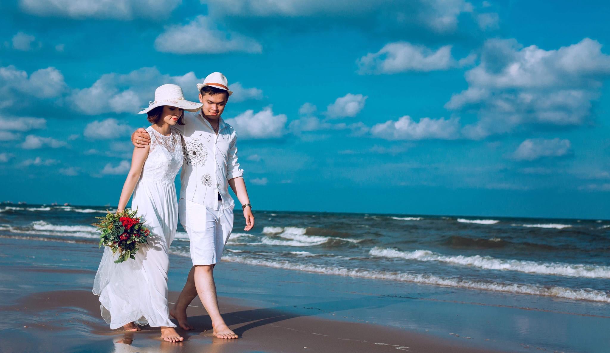 chụp ảnh cưới đẹp ở biển