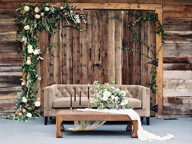 Phông trang trí cưới Rustic