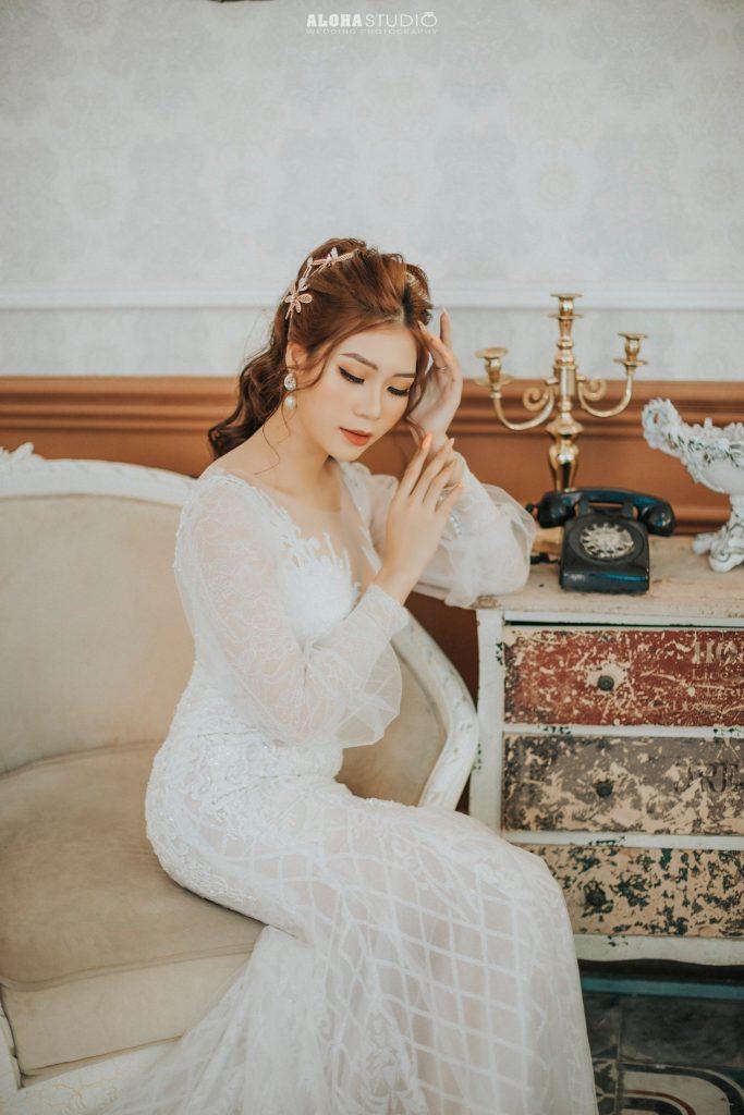 trang điểm cô dâu phong cách Tây