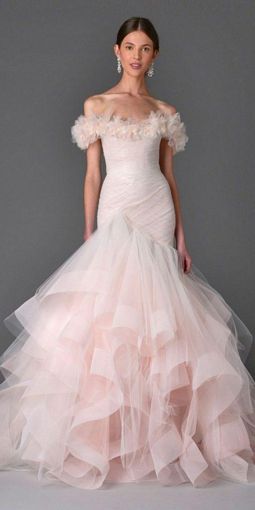 váy cưới đuôi cá Ombre
