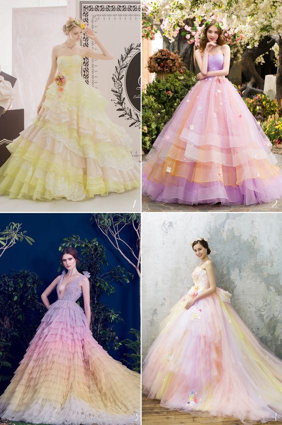 váy cưới Ombre ngọt ngào như truyện cổ tích