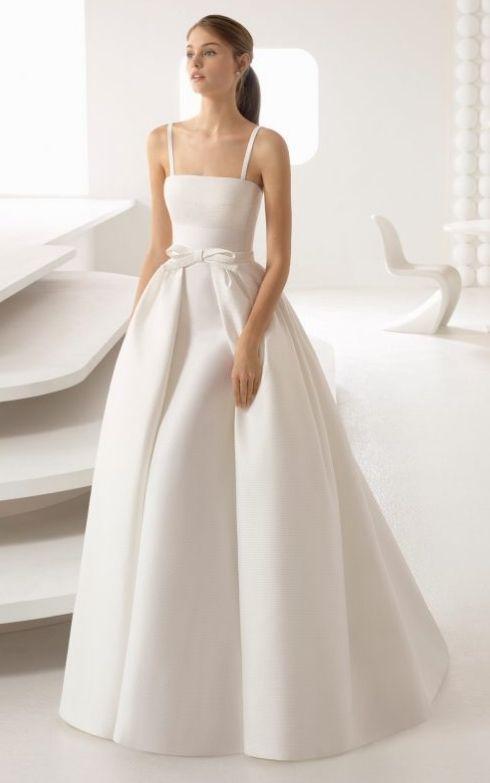 váy cưới chữ A hai dây