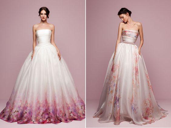 váy cưới ombre đầy nghệ thuật