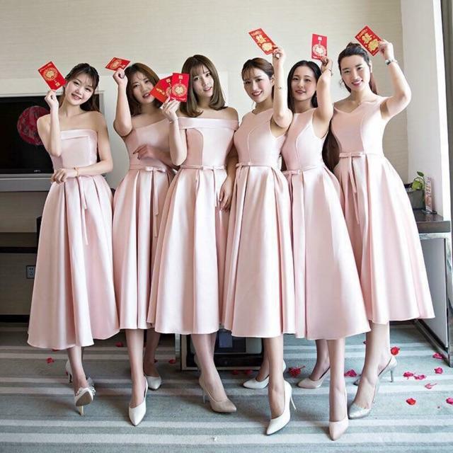 váy cưới phù dâu ngắn1