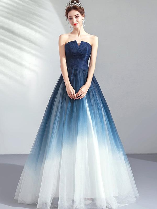 Váy cưới ombre 7 màu