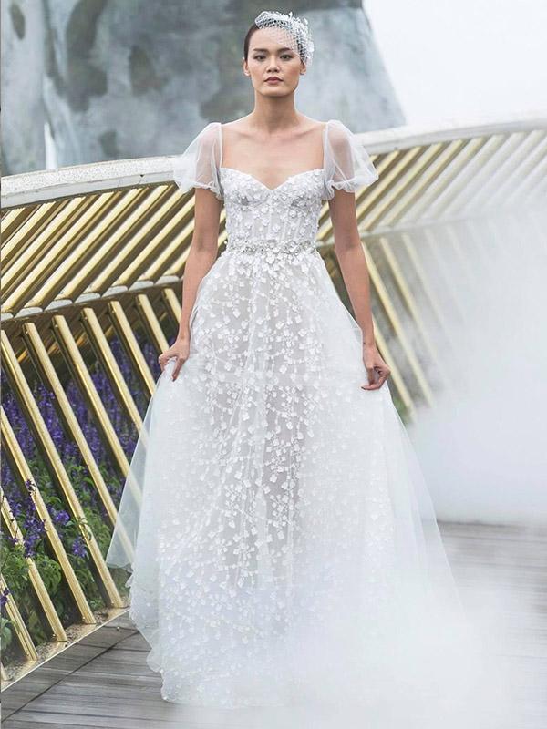 May đo váy cưới phù hợp với thân hình
