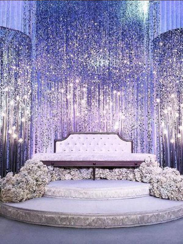 Sân khấu cưới bằng pha lê