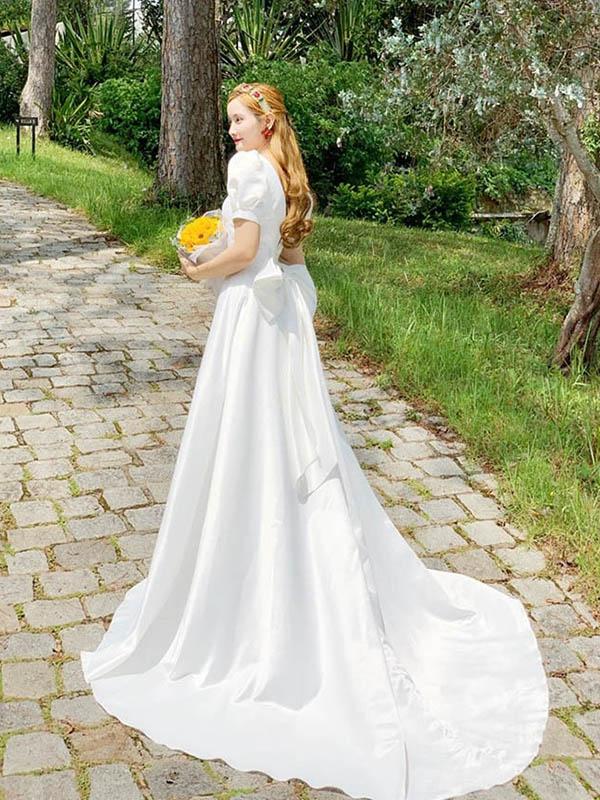 Khái quát về dáng váy cưới dạ hội