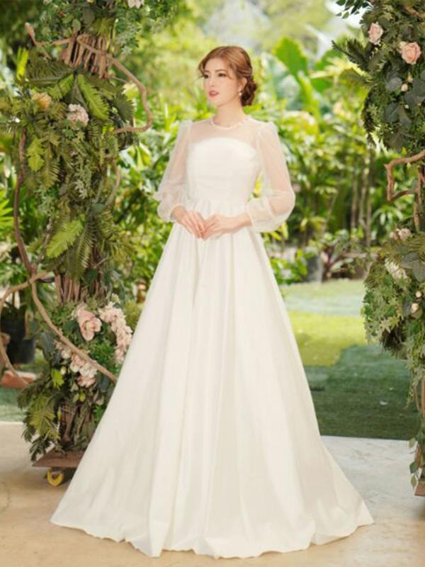 Lựa chọn chất liệu váy cưới dạ hội