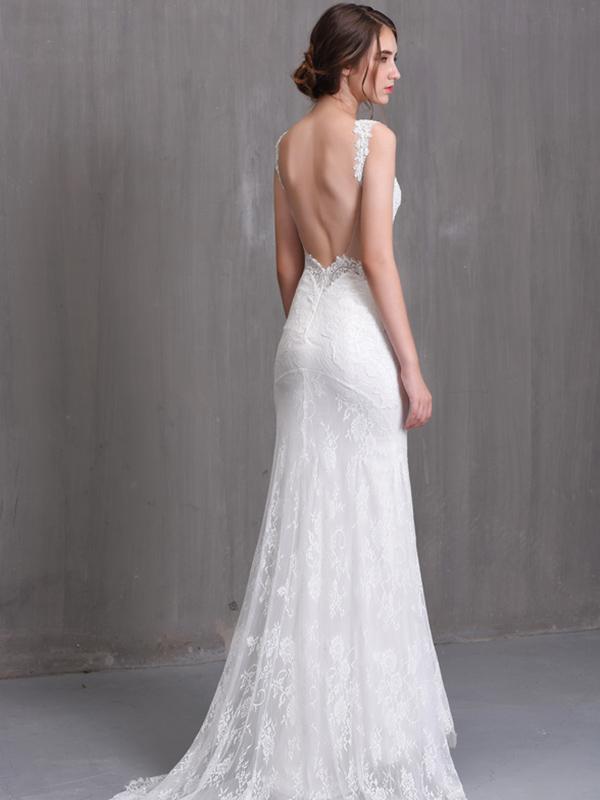 Váy cưới dạ hội lưng trần